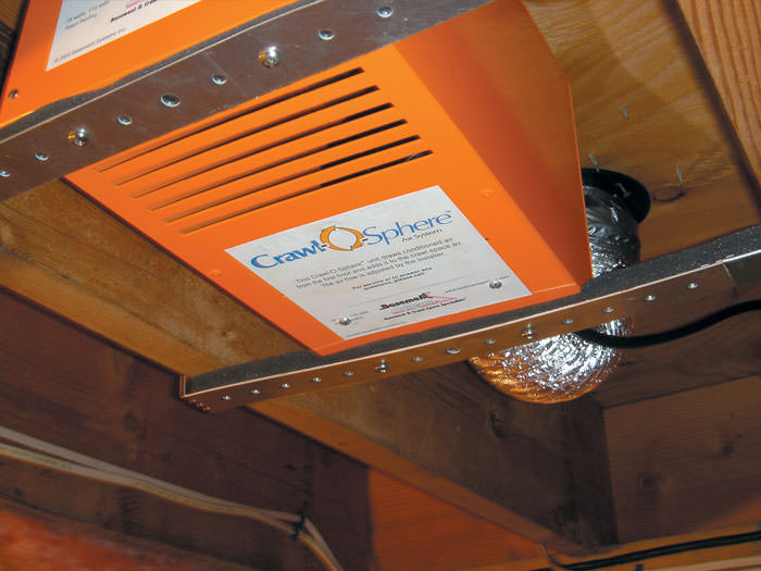 Crawl Space Fan System For Ventilating a Crawl Space in British Columbia | Dry Your Crawl Space ...